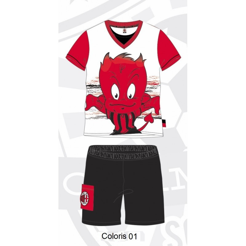 pyjama milan mc enfant 3 8 ans temposport. Black Bedroom Furniture Sets. Home Design Ideas