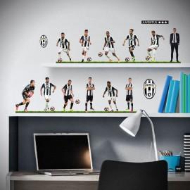 Sticker Juve décoratif Amovible et repositionnable 12 joueurs