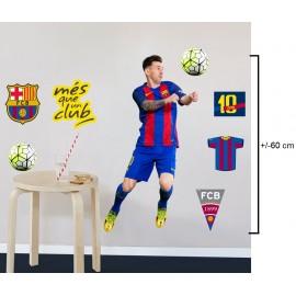 Sticker Messi décoratif Amovible et repositionnable