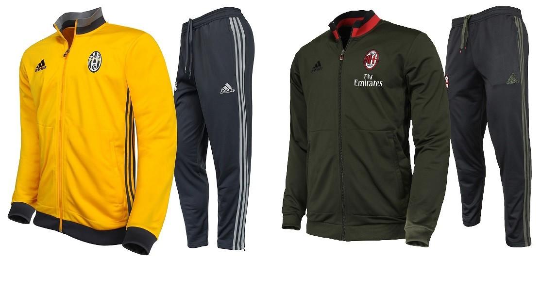 Training Juve et Milan, encore plus de textiles sur les Boutiques